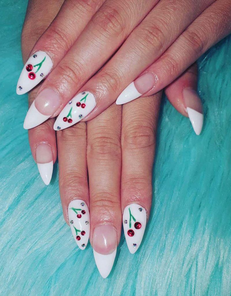 30 Pretty Cherry Nail Art Designs Just For You