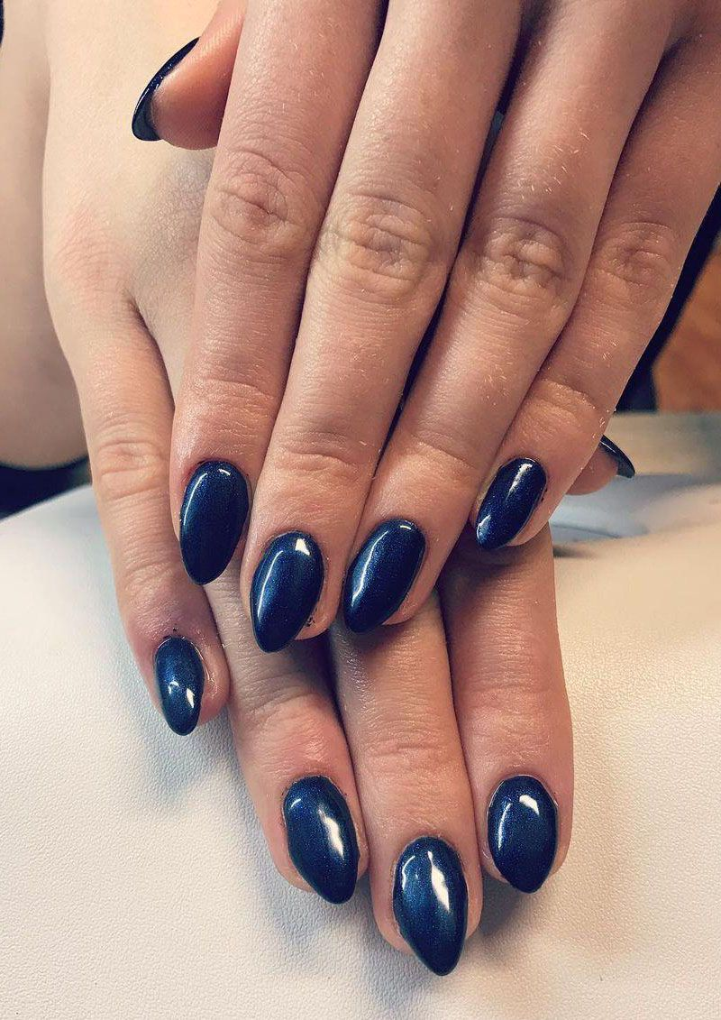 30 Stylish Navy Blue Nails For Inspiration