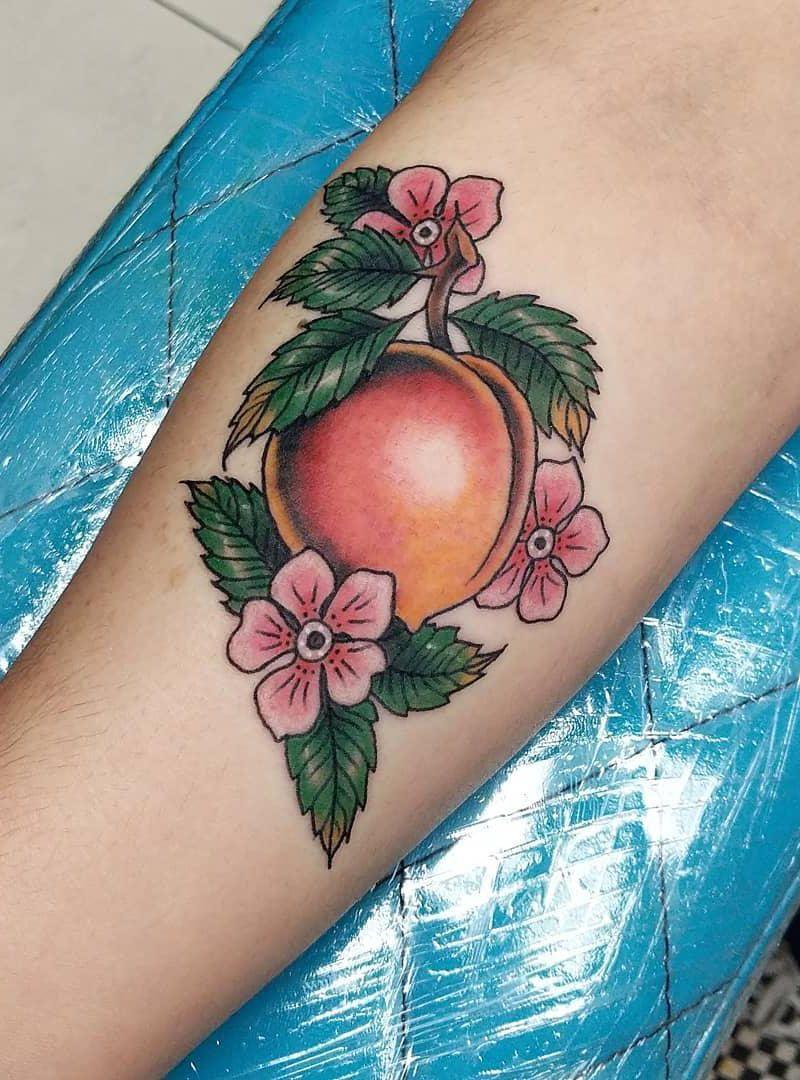 30 Elegant Peach Blossom Tattoos You Need to Copy