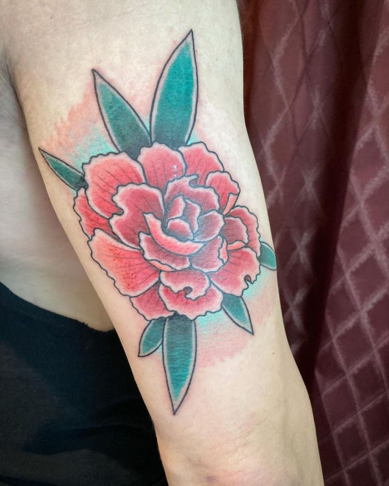 30 Wonderful Carnation Tattoos You Can't Miss