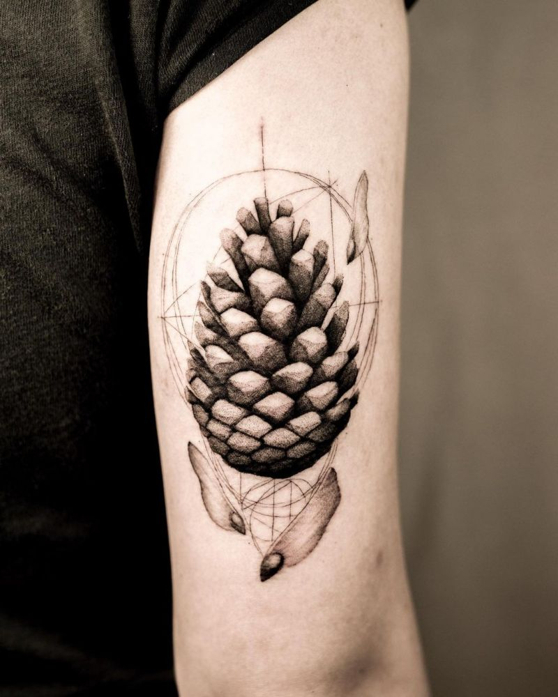 30 Wonderful Pinecone Tattoos You Can't Miss