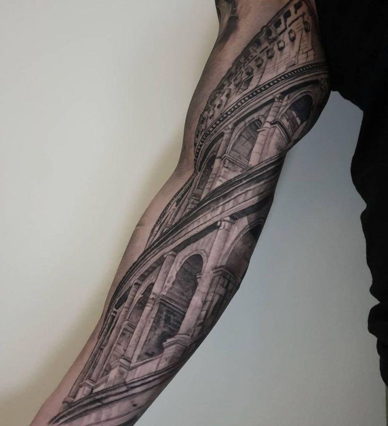 30 Unique Colosseum Tattoos You Must Try