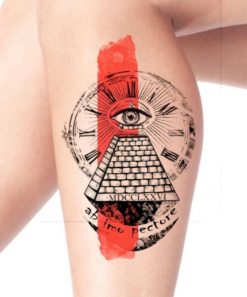 30 Unique Pyramid Tattoos You Must Try
