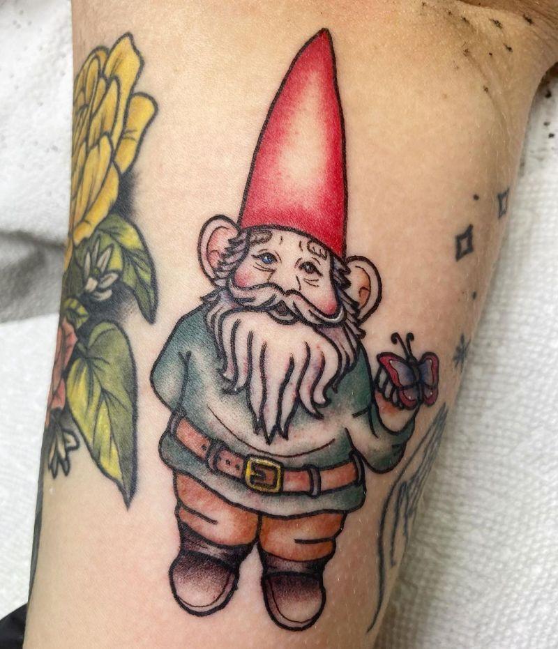 30 Unique Gnome Tattoos You Can Copy