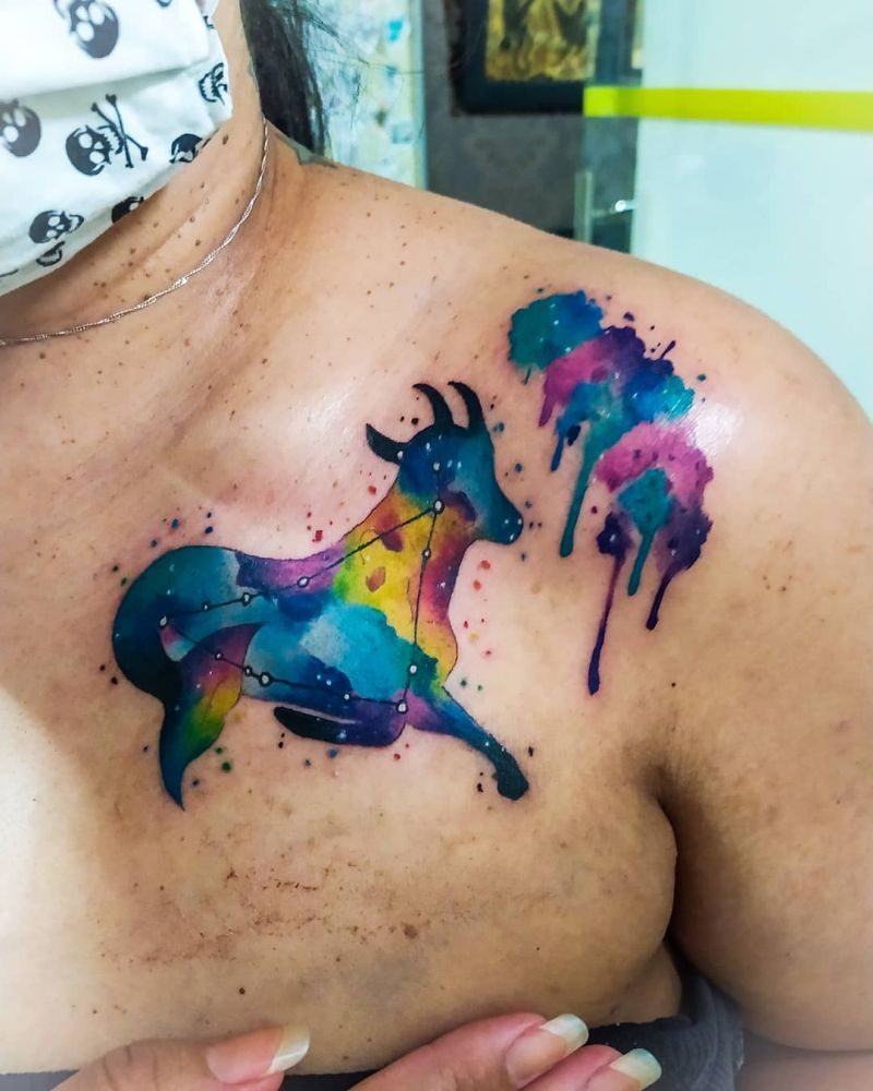30 Cool Aquarelle Tattoos You Must Love
