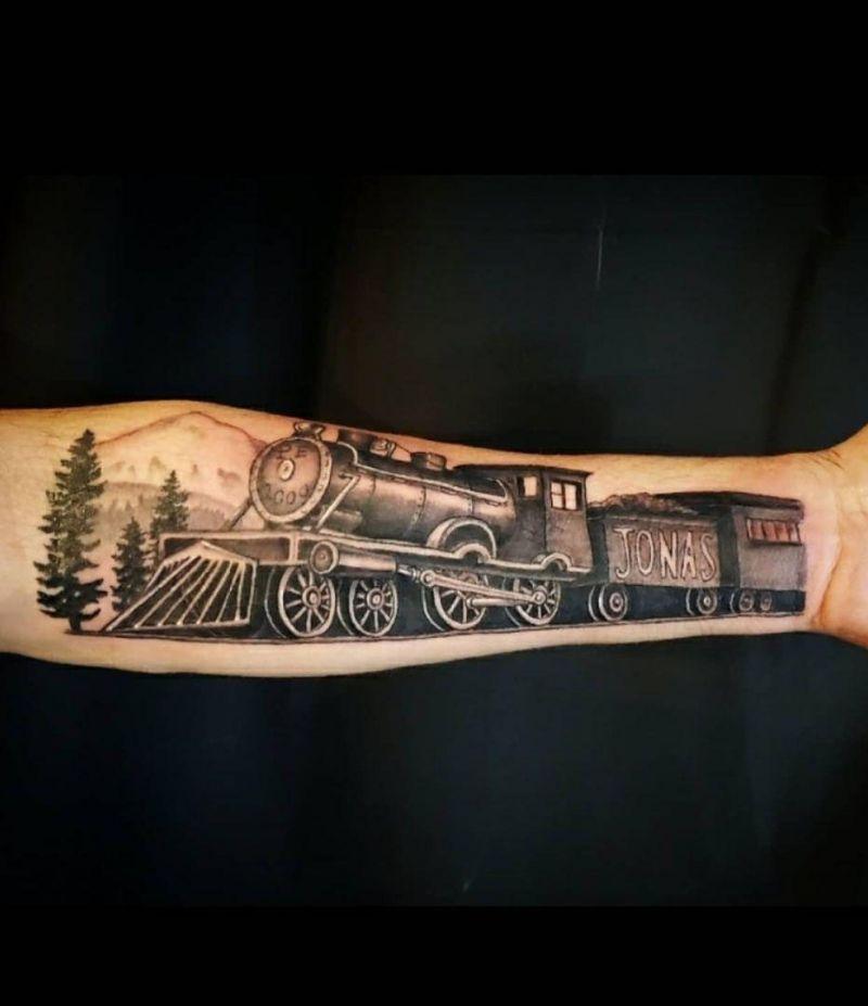 30 Unique Train Tattoos You Must Love