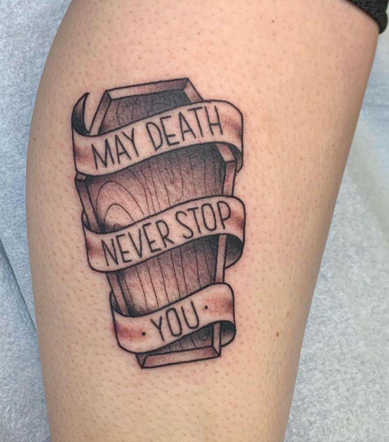 30 Unique Coffin Tattoos for Your Inspiration