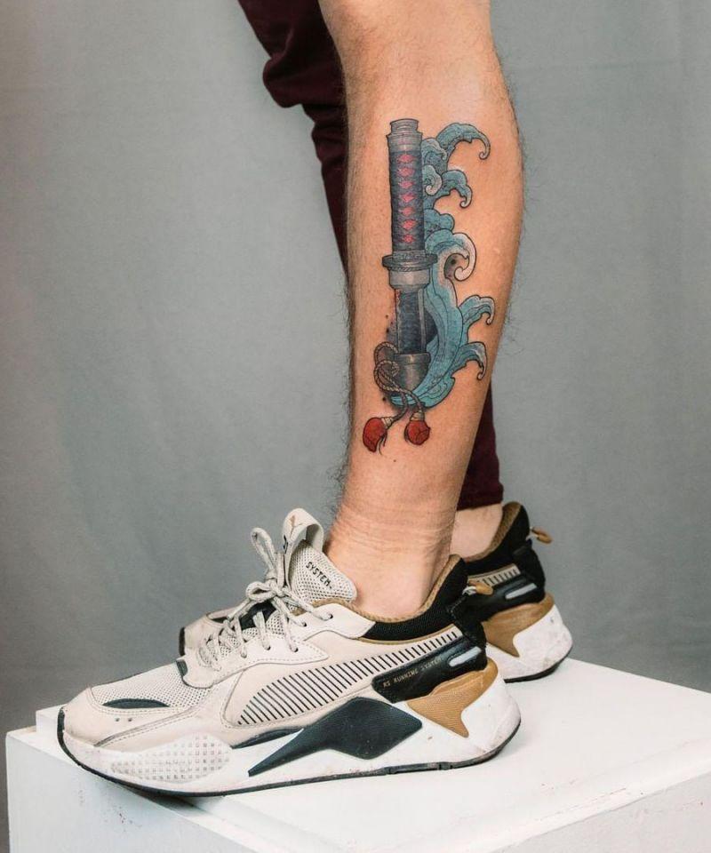 30 Elegant Katana Tattoos You Can Copy