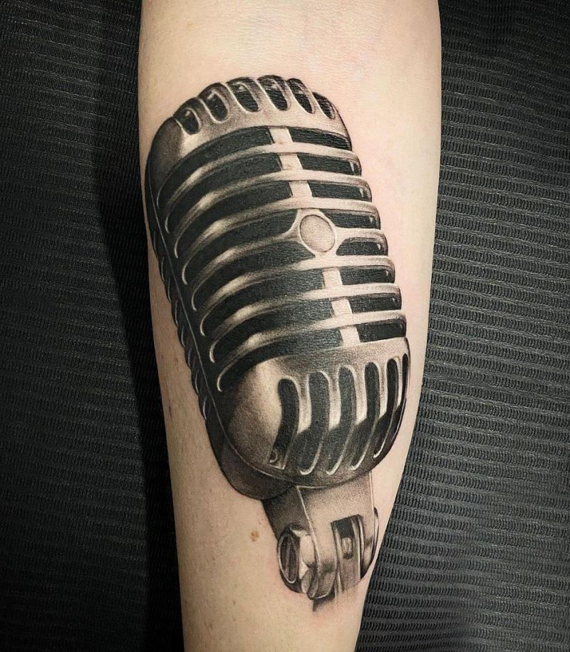 30 Unique Microphone Tattoos You Must Try