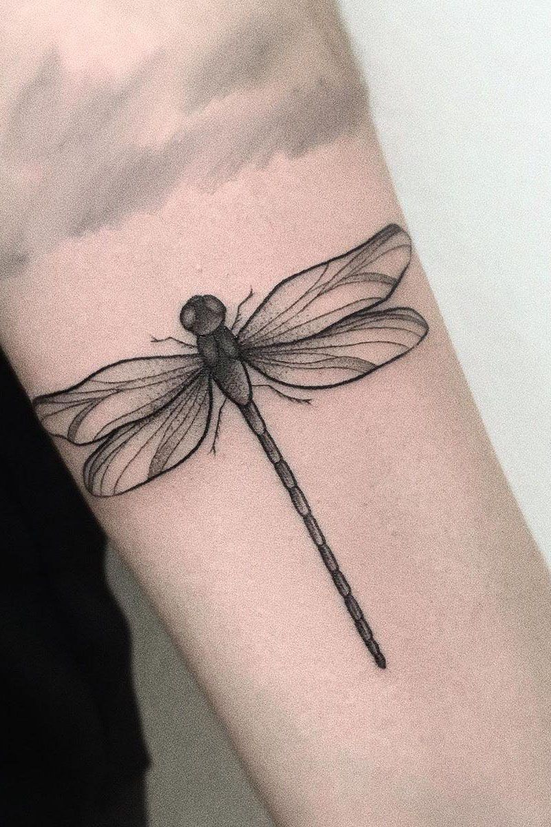55 Pretty Dragonfly Tattoos Improve Your Temperament
