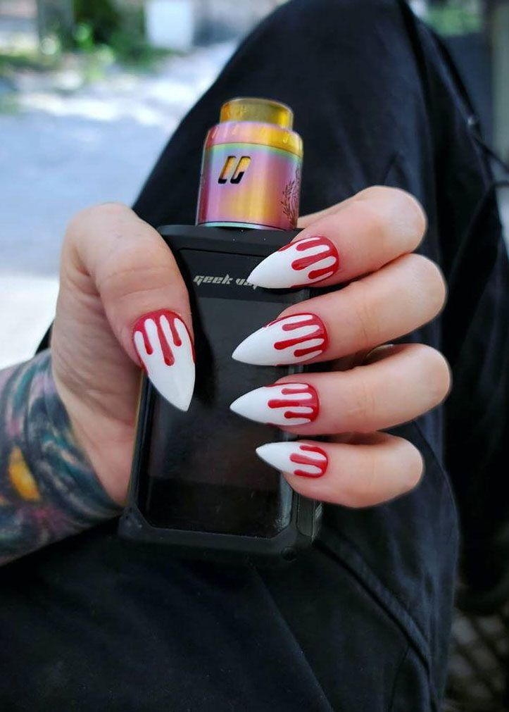 30 Trendy Halloween Bloody Nail Art Designs for 2020